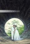 prewedding di terowongan tinjomoyo